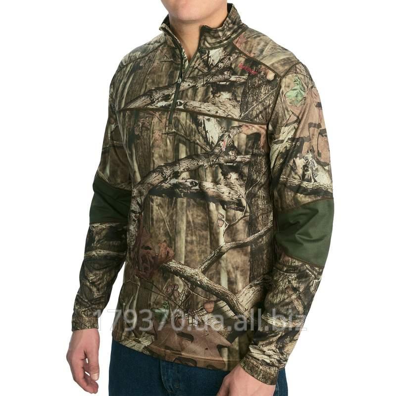 Пуловер охотничий Terramar Tracker Pullover - Zip Neck, Long Sleeve