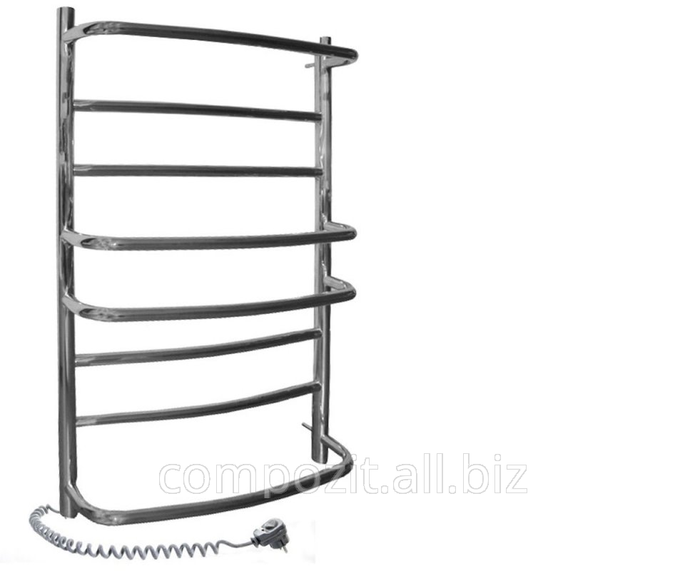 Buy The heated towel rail electric the Omega from stainless steel 530х600 left-side