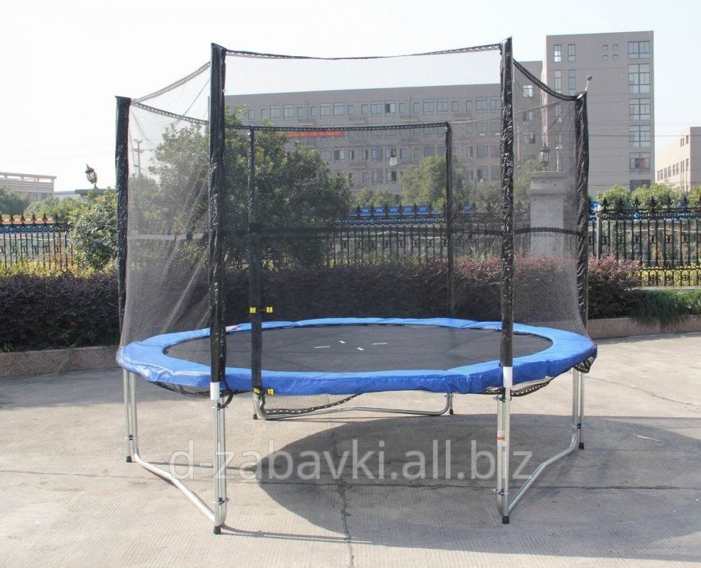 Buy Trampoline Of 312 Cm With A Grid And A Short Flight Of Stairs