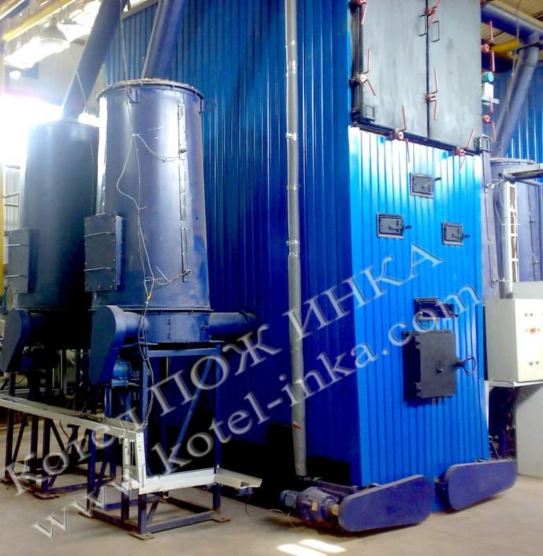 Котел водогрейный твердотопливный марки ПОЖ ИНКА мощностью от 100 до 5000 кВт.