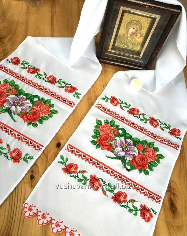 "Buy The embroidered bench hammer ""Roses, lilies, rosettes"