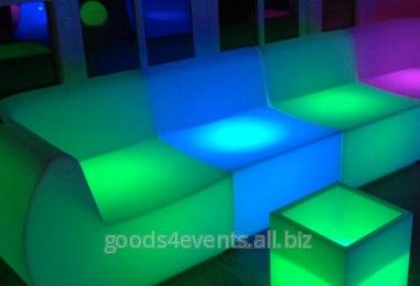 Софа LED-sofa-01 прямоугольная секция