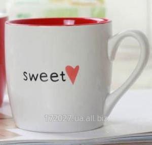 Купить Керамическая белая чашка Сердце -Белая . Starbucks.
