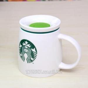 Купить Супер-объемная керамическая чашка с крышкой Starbucks .