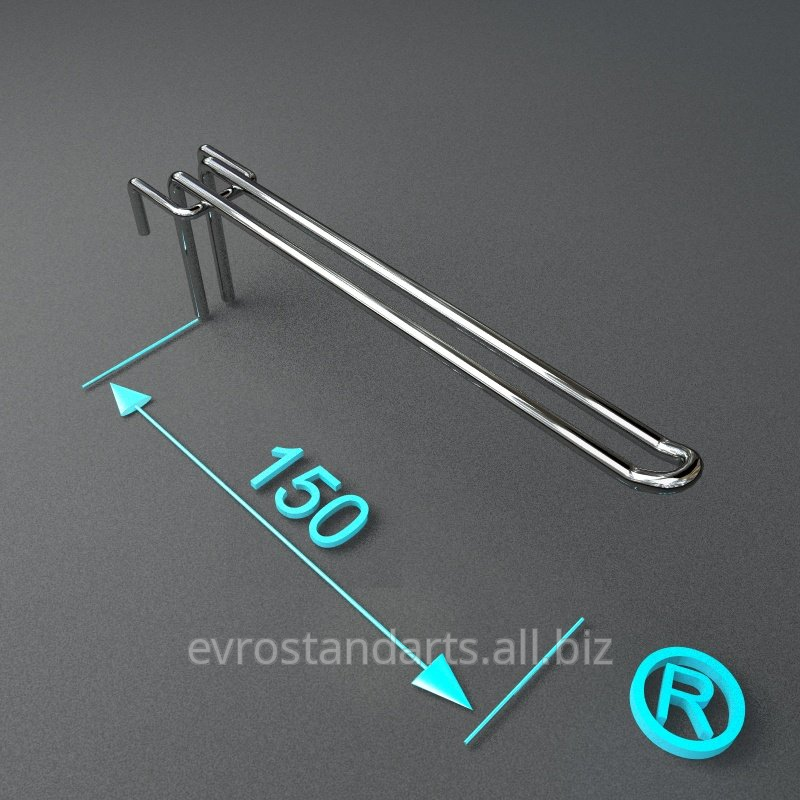 Крючки торговые двойные 150 мм