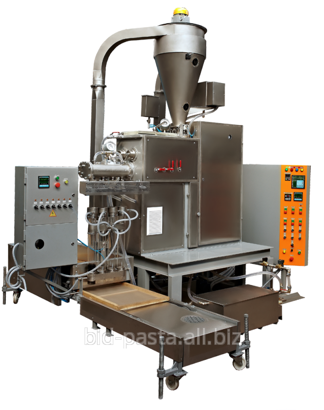 """Macaroni press for production of """"Nests"""" with a productivity of 70 kg/h"""