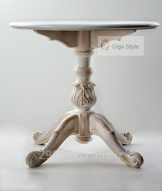 Buy Dining carved table from a natural tree, from the producer
