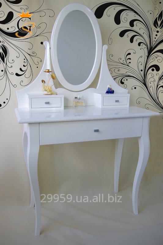 Купить Туалетный столик с зеркалом из натурального дерева, гарантия