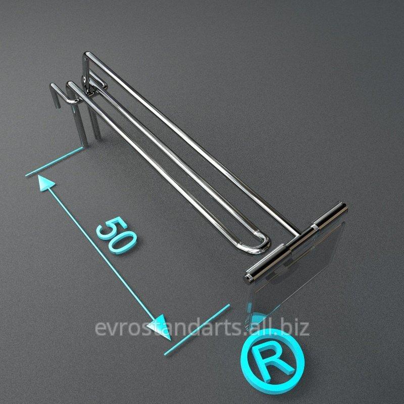 Купить Торговые крючки двойные с ценникодержателем 50 мм