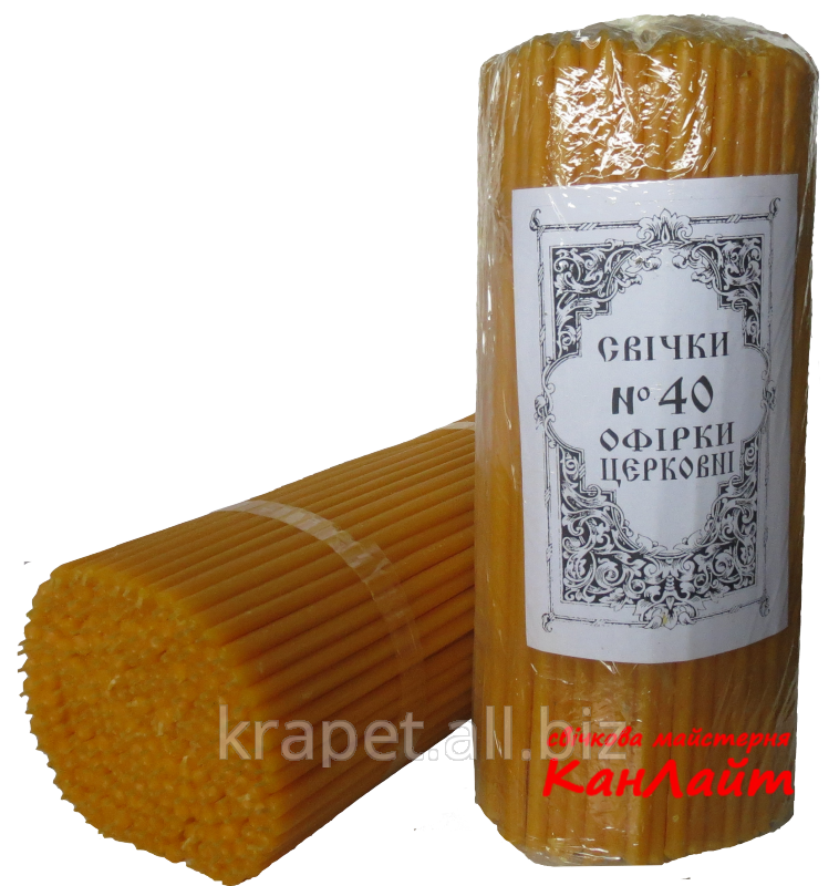 Candles church No. 40 (packing of 2 kg, Kanlayt)