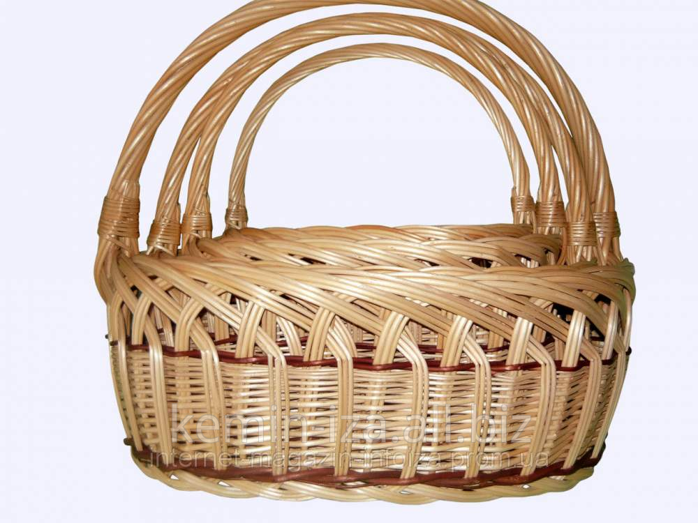 Buy Wattled baskets from a rod for reasonable prices, baskets for apples, pears. to get wattled products in Zakarpatye