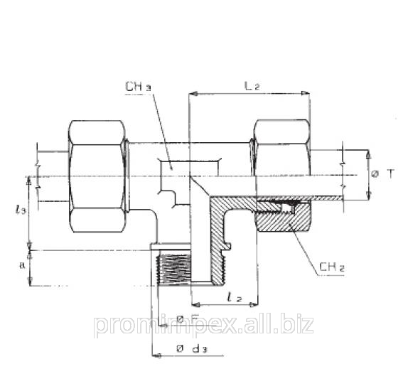 Buy Threaded connection T-shaped TEV-M