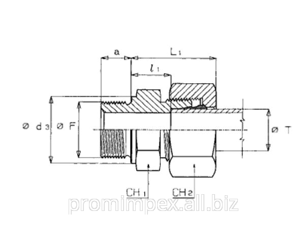 Buy The direct screwed-in threaded connection of GEV-R of a series L