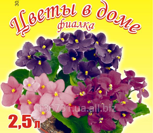 Купить Грунтовая смесь для фиалок на основе биогумуса Цветы в доме 2,5 л