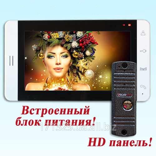 Видеодомофон PoliceCam PC-705R2 + вызывная панель PC-668H HD качество
