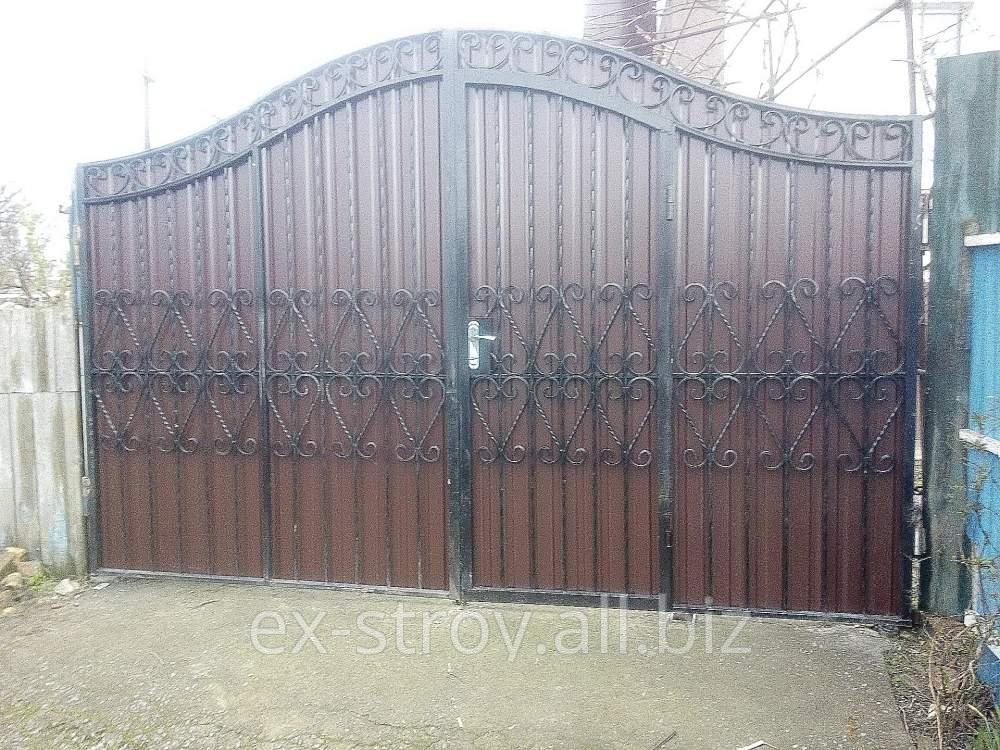 Купить Кованые ворота, ворота, ограждения, заборы кованые, новые стильные ворота на дачу в Украине приобрести