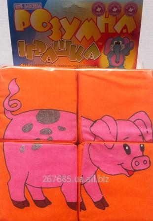 Купить Кубики «Собери картинку» домашние животные