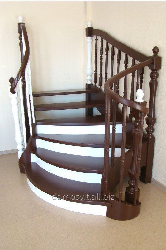 Лестницы деревянные и комбинированные