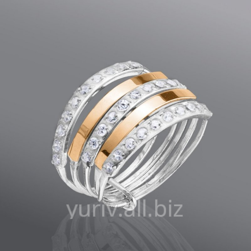 """Buy Ring """"Week"""" with cubic zirconias, the Article 36"""