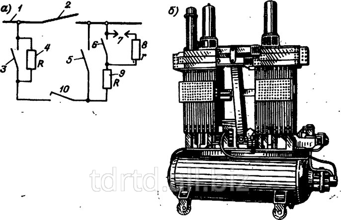 В узлах выключателя ВВГ-20 ВД8.370.265