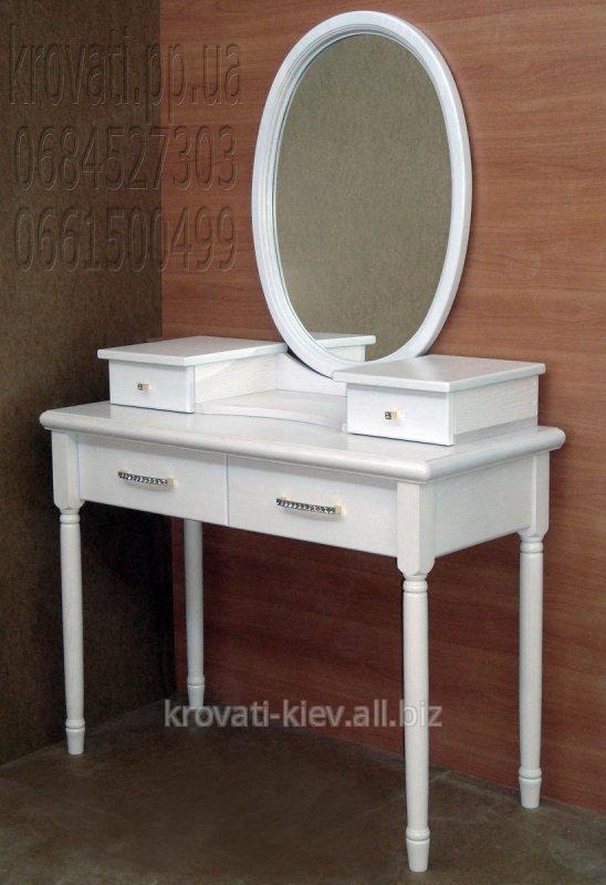 Туалетный столик массив белый