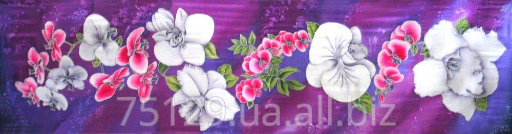 """Buy Hand painted silk scarf """"Orchids"""" available"""