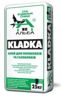 Клей KLADKA для піноблоків та газоблоків (25 кг)