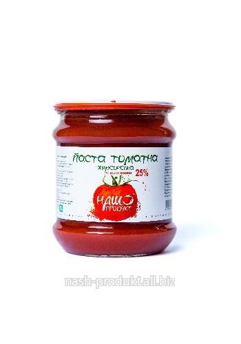 Паста томатная ХЕРСОНСКАЯ 25%. Вес 500 г. ГОСТ.