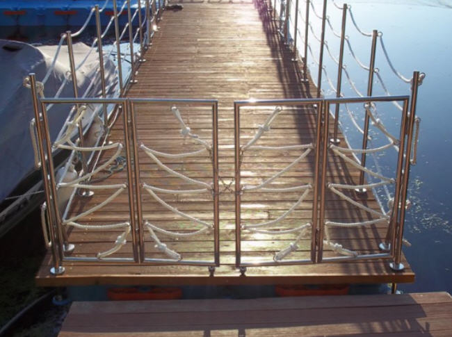 Buy Hand-rail from stainless steel for pools, ladders, moorings, etc.