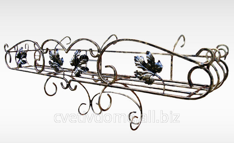 Цветочница кованая балконная - подставка НАВЕСНАЯ