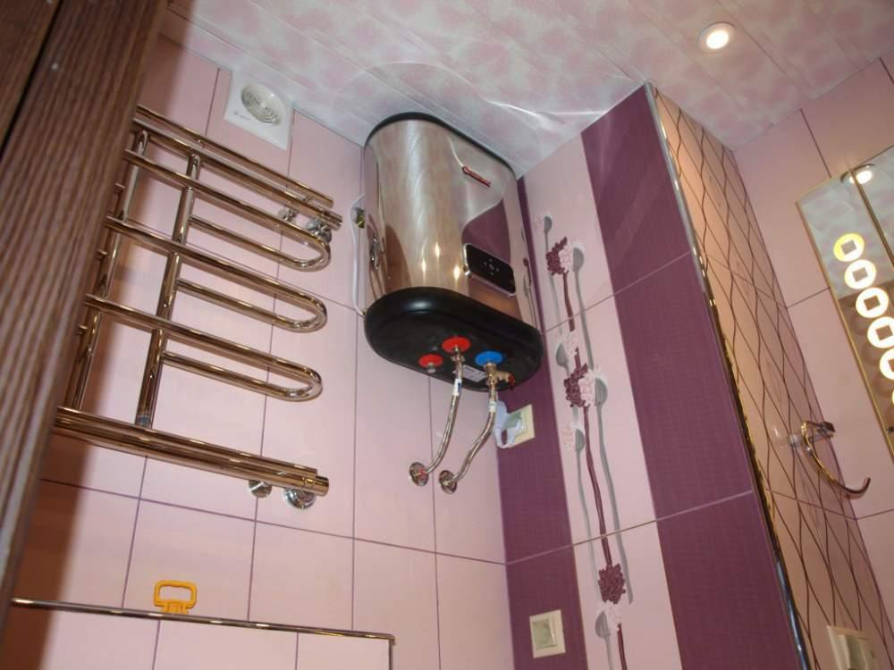 Установка водонагревателя в ванной комнате своими руками 24