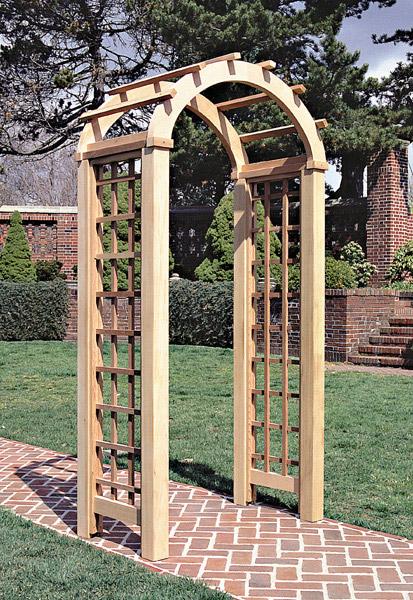 Деревянная арка для сада пошагово фото