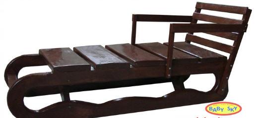 деревянные санки для взрослых