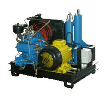 Купить Компрессор КР-25. Компрессорные установки КР-25 предназначены для нагнетания воздуха, очищенного от влаги, масла и углеводородов, в баллоны дыхательных аппаратов до давления 200 кгс/см2.