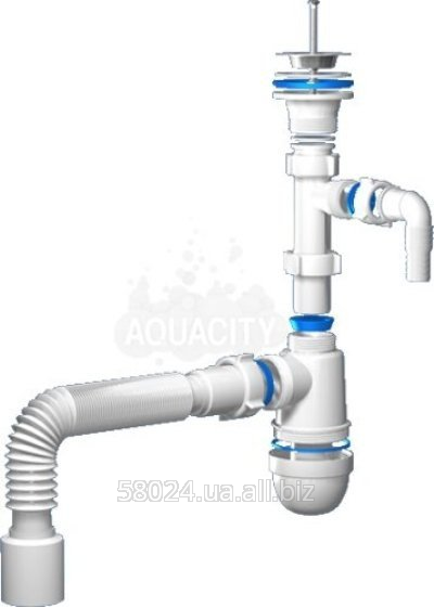 """Buy Siphon of C1310 of Ania 1 1/4"""" *40 with branch for the washing machine with a flexible pipe 40*50"""