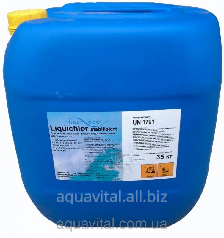 Купить Жидкий хлор (дезинфекция бассейнов) FreshPool, 35 кг