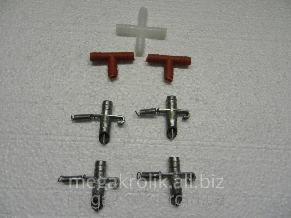 Ниппельная поилка для кроликов металлическая, НПК-1
