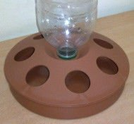 Buy Vacuum autodrinking bowl under PET a large bottle of 0,5-2 l., brown, VP-1