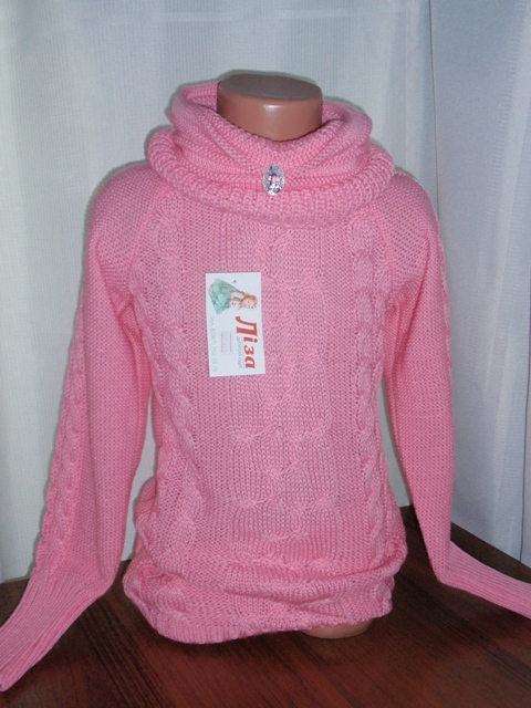 Кофты трикотажные вязанные, кофта для девочек, модель 357, 1