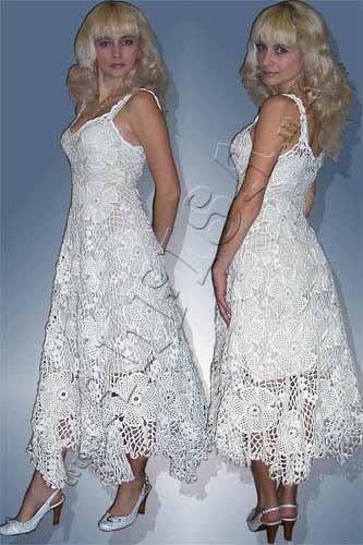 Где куипить вязаное крючуом свадебное платье
