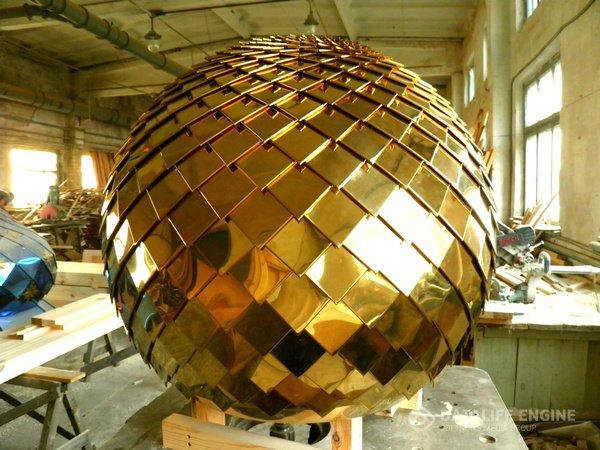 """Cupole della metallizzazione sotto vuoto chiese colore """"oro"""", """"bronzo"""", """"blu"""", """"rame"""""""