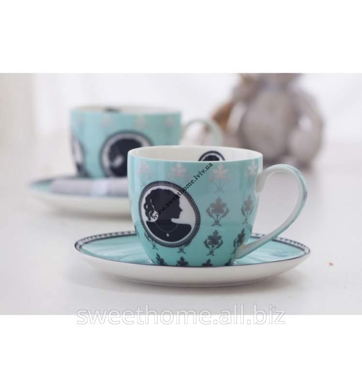 Купить Чайный набор состоит из 6 блюдцев и 6 чашек