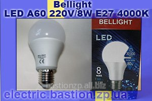 Энергосберегающая светодиодная лампа LED A60 220V/8W E27 4000K