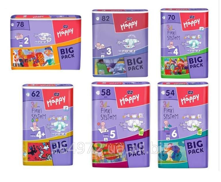 Памперсы, подгузники Bella Happy 2,3,4,4+,5,6 купить в Самборе 4d64b5ec1c0