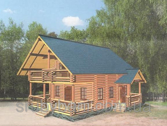 The house from a wild felling with a penthouse + an arbor + garden furniture of 140 m - 280 000 UAH