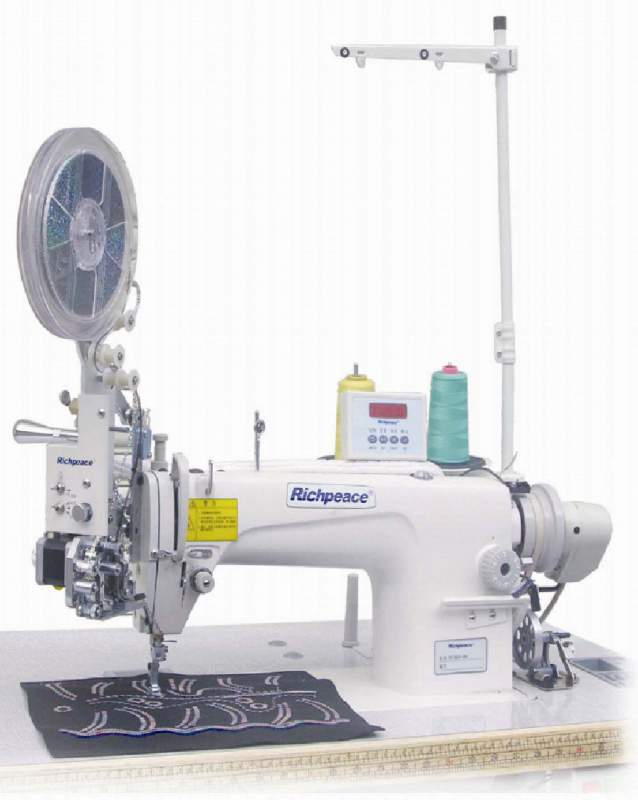 Buy Sewing embroidery machines for sewing of paillettes 2kh the sizes [computerized, with the control panel] with function of restoration of the drawings embroidered with paillettes.