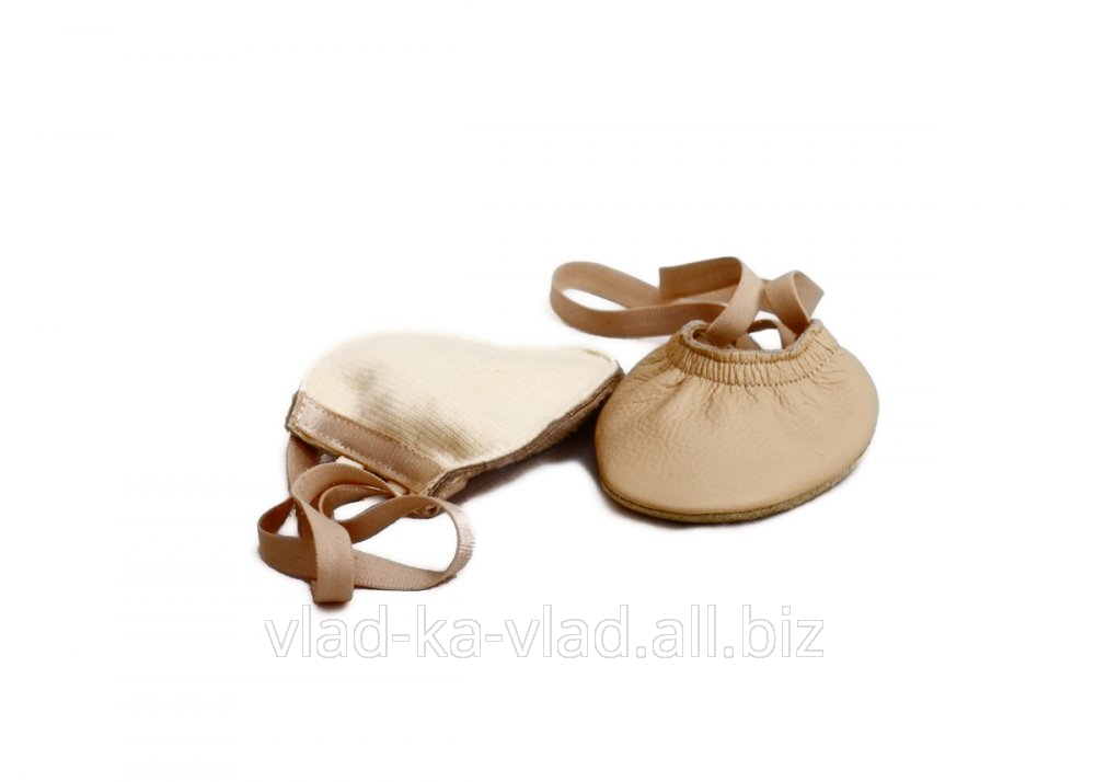 Buy Semi-Czeches, semi-fingers noses, chanterelles leather, beige.