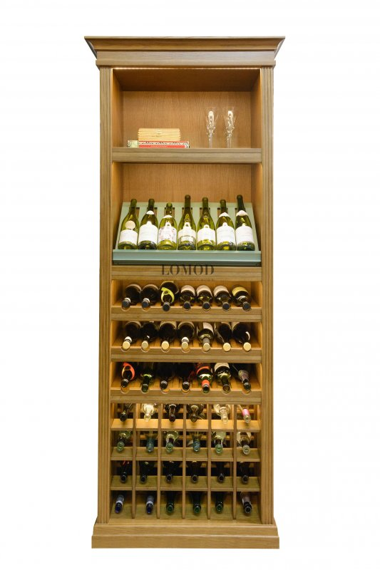 Wooden case for wine. Piemonte model. Article 1 Pm.