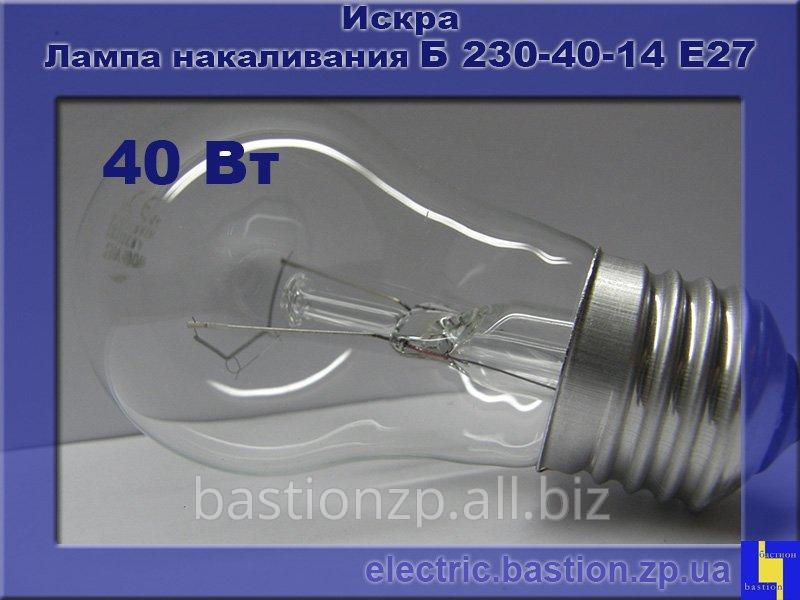 Лампа накаливания (ЛОН) Б 230-40-14 Е27 - Искра