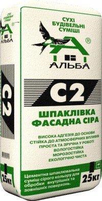 Шпаклівка фасадна сіра С2 (25 кг)